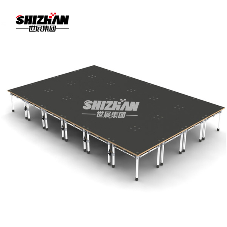 Aluminum stage adjustable stage platform