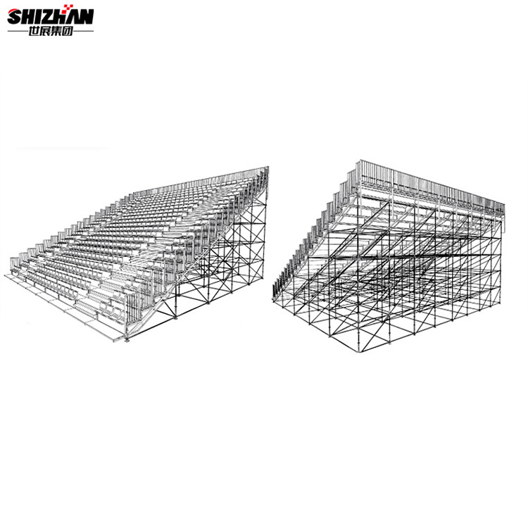 Movable bleacher portable gym bleachers