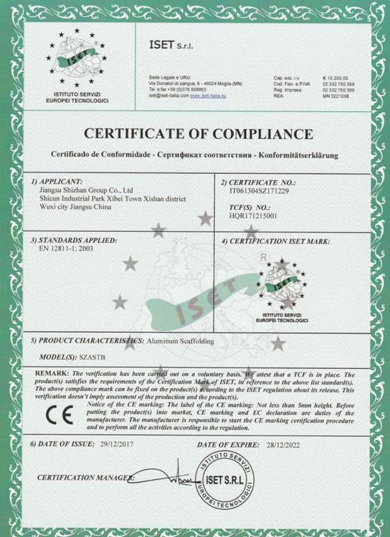 CE-certificate-EN-12-811-layer-scaffolding