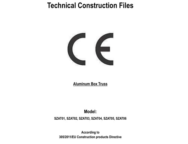 CE Testing report-Shizhan-Aluminum Box Truss