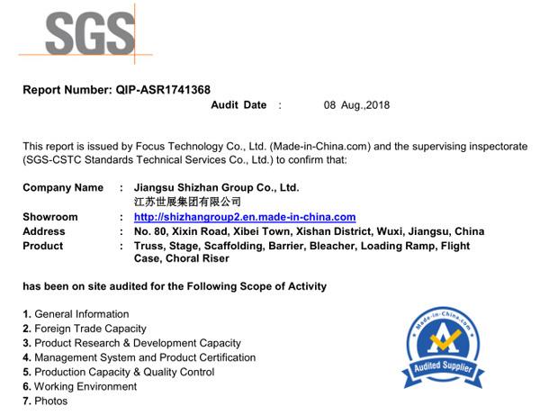 SGS CERTIFICATE-0816