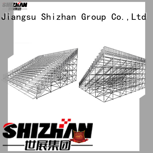 Shizhan new outside bleachers for gym