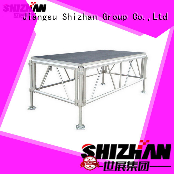 Shizhan ISO9001 certified portable outdoor stage trader for party