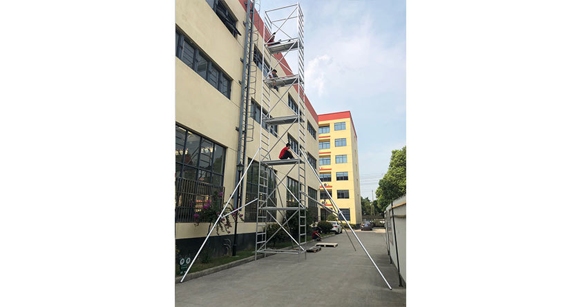 12m height aluminum movable scaffolding